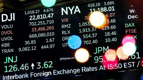 De amerikanske børsene har lagt bak seg en historisk handelsdag. Børsrallyet fortsetter i Asia på torsdag.