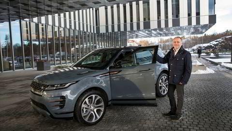 John Helmersen, salgsdirektør for BC Norway AS, hadde tidenes år i Norge med Jaguar I-Pace i 2018. I år håper han på suksess også med nye Range Rover Evoque.