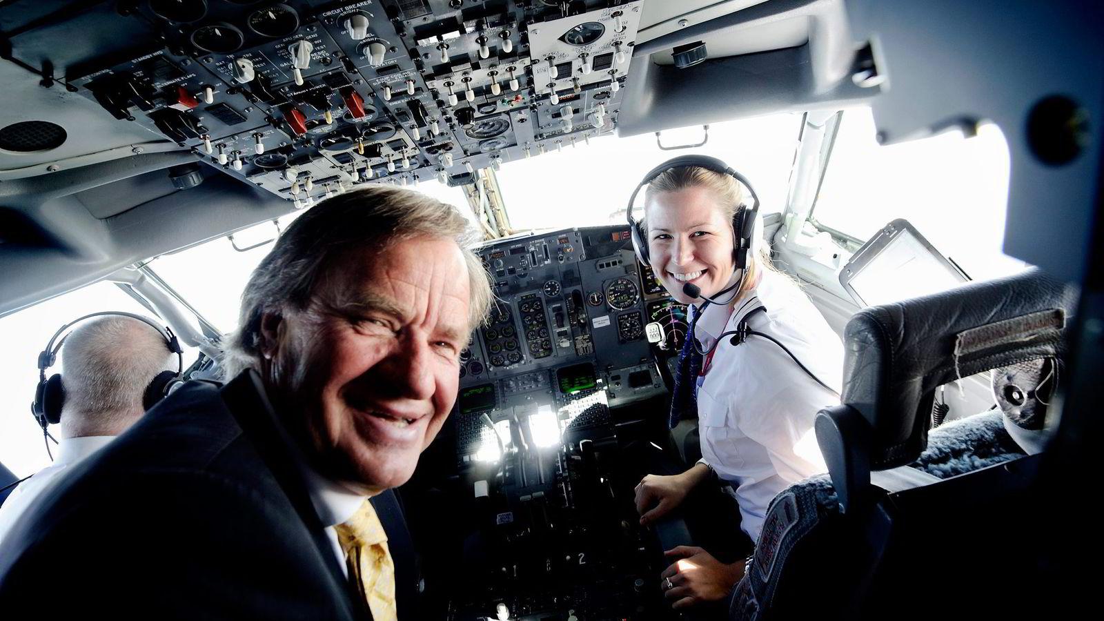 OSLO 20110414 Anna Helene Kjos er datter av Norwegian-sjef Bj¯rn Kjos, og pilot i samme selskap. VG er med til Stockholm, der pappa Kjos er passasjer.               FOTO: KRISTIAN HELGESEN /