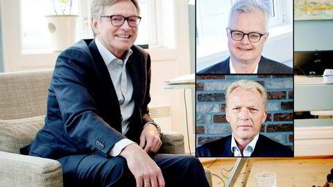 Stig Grimsgaard Andersen, styreleder i Silver. Innfelt: Rune Fløgstad (øverst) og Åge Westbø.