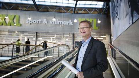 Konsernsjef Fredrik Steenbuch i XXL sliter med veksten i Norge. Foto: Per Thrana