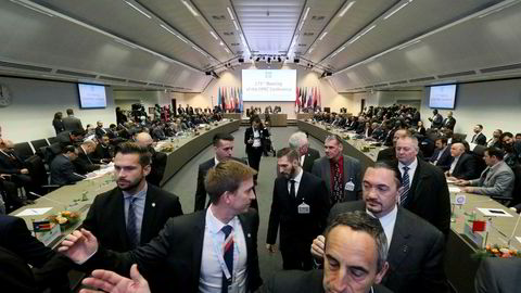 Det råder usikkerhet i oljemarkedet før Opec-møtet i Wien.