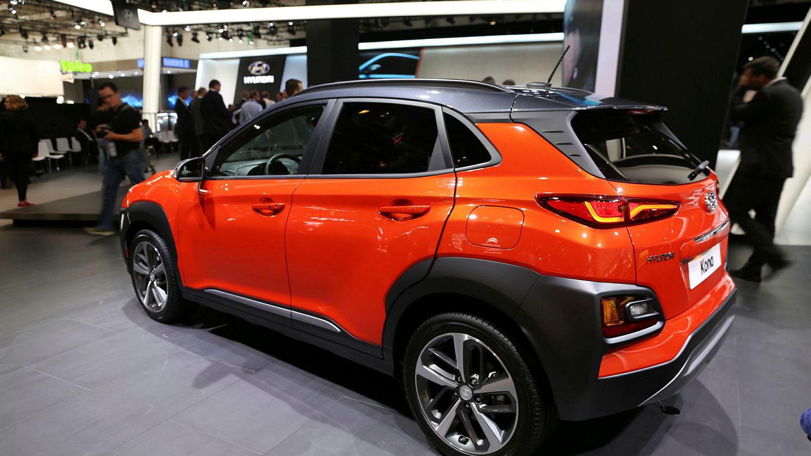 Hyundai Kona er ennå ikke vist i elektrisk versjon, men å kombinere elbil med suv er sannsynligvis oppskriften på suksess i det norske markedet.