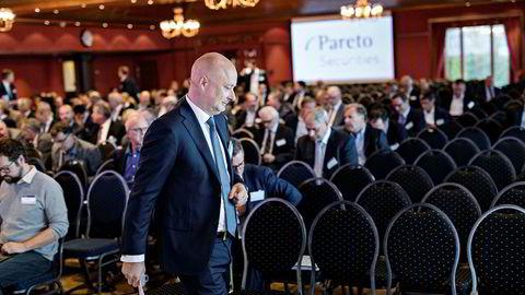 Ole Henrik Bjørge er toppsjef i finanshuset Pareto, som nå står sentralt i en ni uker lang Økokrim-sak for Oslo tingrett. Her er Bjørge på Pareto-konferansen på Holmenkollen Park Hotel i september.