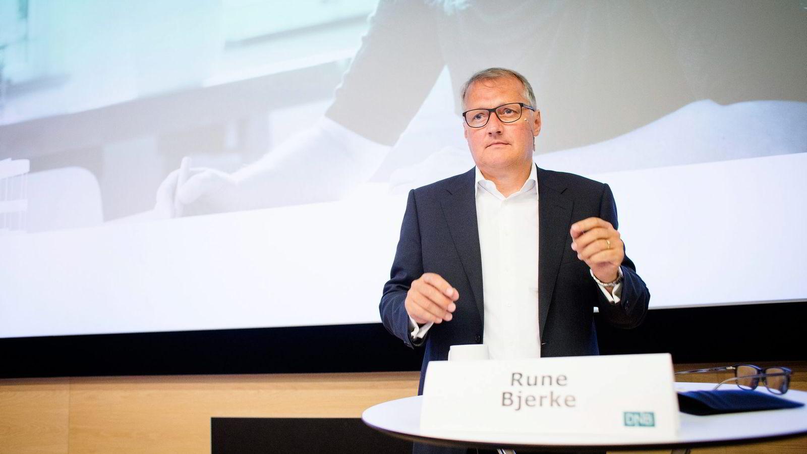 DNB-sjef Rune Bjerke.