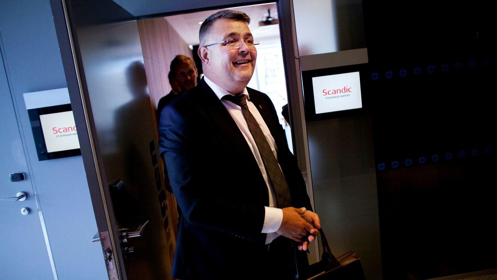 Kjell-Børge Freiberg ble nylig ny oljeminister. Som listetopp for Nordland Frp lobbet han i fjor for Nordlaks, som ga partiet en hemmelig gave.
