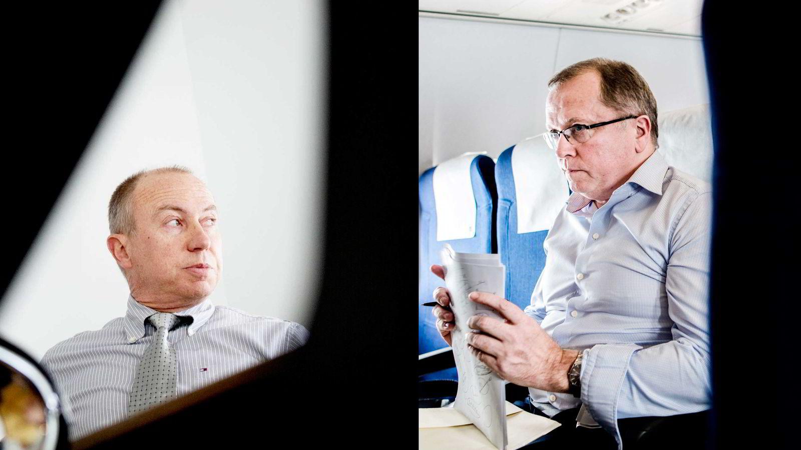 Fra venstre konsernsjef i Statkraft, Christian Rynning-Tønnesen, og konsernsjef i Statoil, Eldar Sætre. Foto: Elin Høyland og