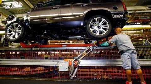 GM satser nå tungt på teknologi for selvkjørende biler. Bildet er fra GMs fabrikk i Arlinton i Texas. Foto: Mike Stone/Reuters/NTB scanpix