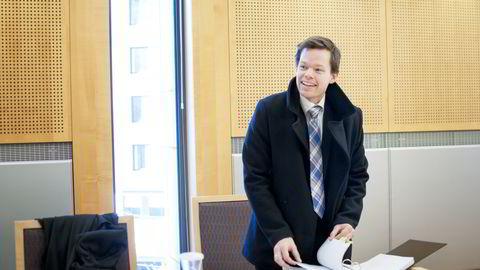 Politiadvokat og aktor Jul Fredrik Kaltenborn lyktes med å få tre personer dømt for innsidehandel i Eltek-aksjen. Her er han avbildet under behandling av en annen sak høsten 2013  Foto: Kristine Nyborg