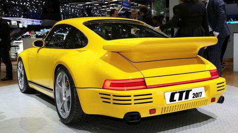 Første investering for Mikla Supercars er en av de 30 eksemplarene av RUF CTR. Bilen er til forveksling lik en Porsche, men ifølge produsenten har den ingen felles deler med noen Porsche. Foto: Newspress