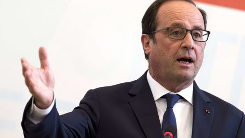 Den franske presidenten er under press for å bidra til en løsning for Hellas' gjeldsproblem. Foto: Kenzo Tribouillard/AFP/NTB Scanpix.