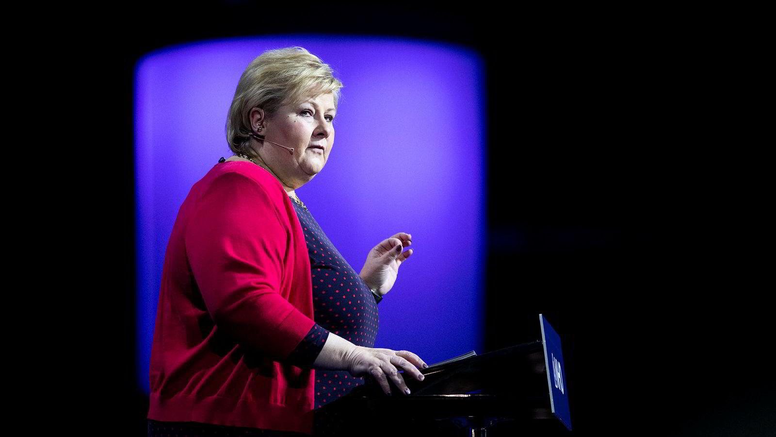 Statsminister Erna Solberg drar ikke til Davos.