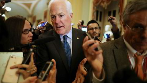 John Cornyn, som er republikansk senator for Texas, hevder republikanerne har nok stemmer til å få vedtatt skattereformen.