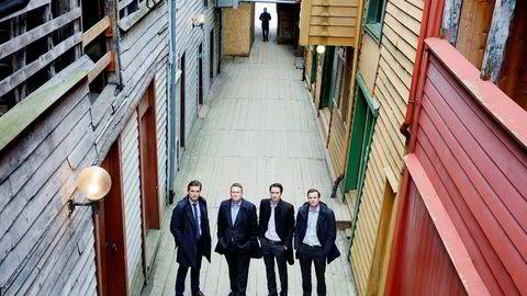 Investeringsselskapet Broodstock. Fra venstre partner Kjetil Haga, Partner og daglig leder Jan Erik Løvik, partner Håkon Aglen Fredriksen og partner Simen L. Bjørnstad.