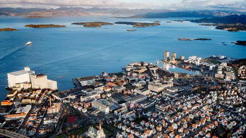 Her et flyfoto av Stavanger øst. Foto: Tommy Ellingsen