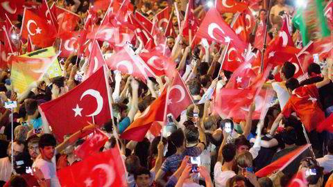 232 mennesker - de fleste sivile - mistet livet under det mislykkede kuppforsøket i Tyrkia. Foto: Gunnar Lier