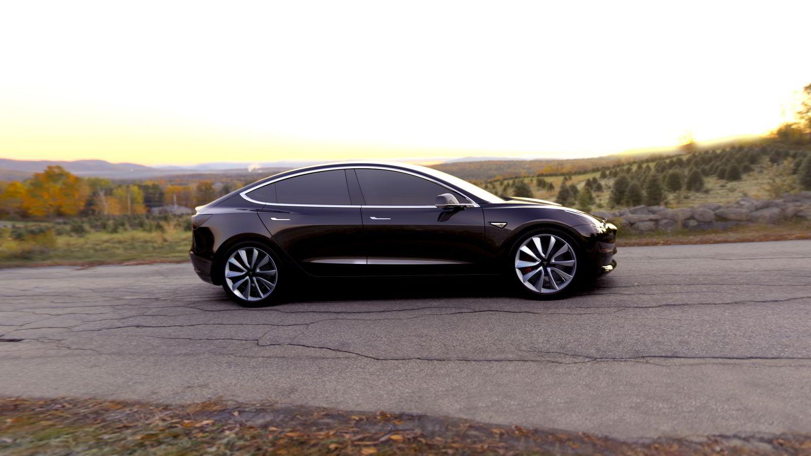 «HISTORISK LANSERING». Reservasjonene av Model 3 slår alle forventninger. Allerede har det gitt Tesla en kontantstrøm på nær 3 milliarder kroner. Pressefoto Tesla Motors.