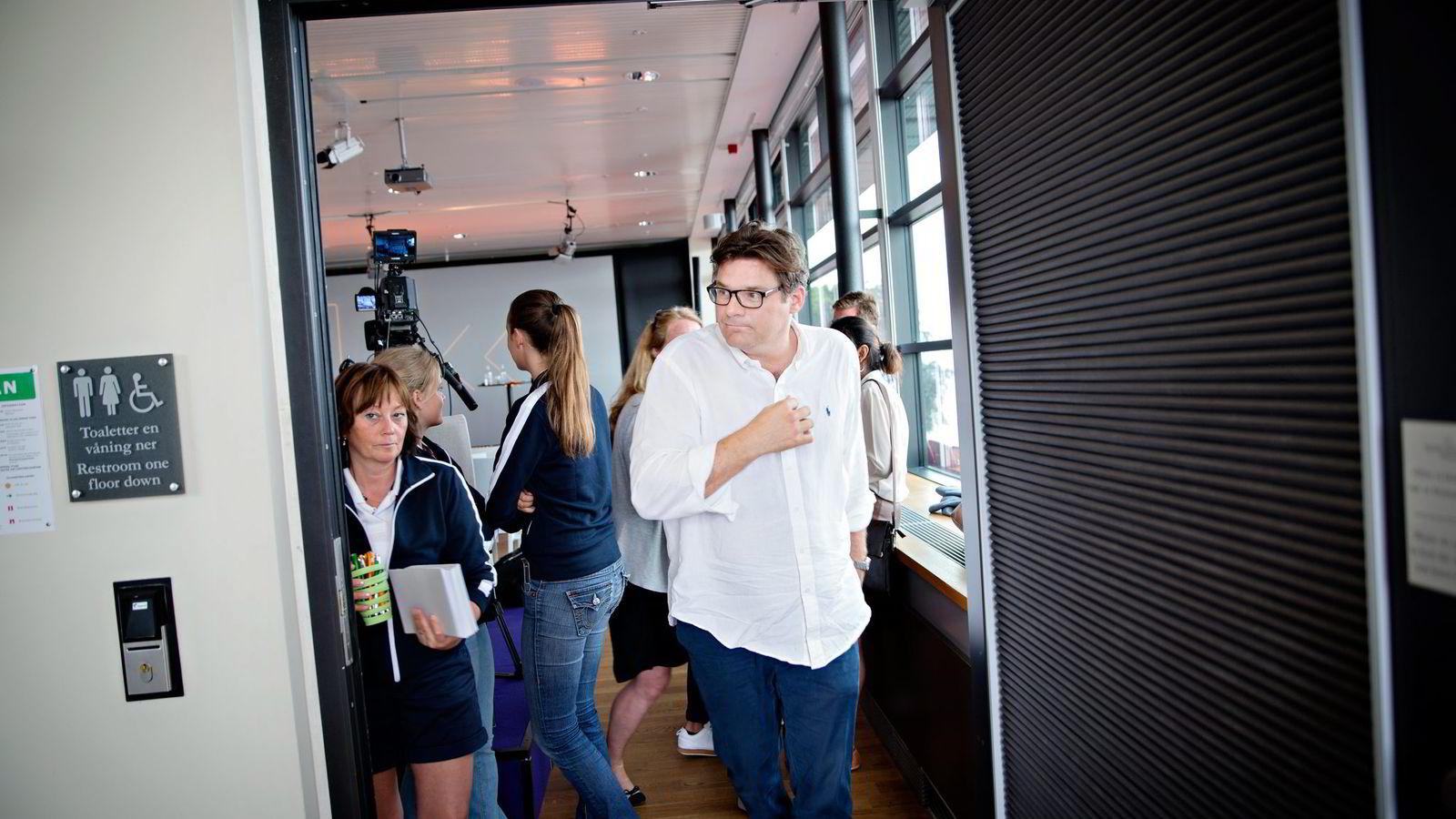 Aftonbladets publisher Jan Helin rettet skyts mot tradisjonelle mediehus som inngår partnerskap med Facebooks nye nyhetstjeneste, Instant Articles. Foto: Kristian Ridder-Nielsen