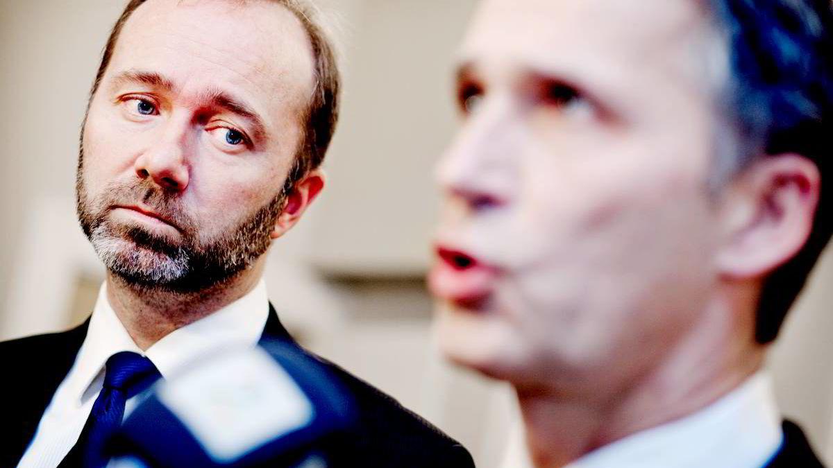 Næringsminister Trond Giske og statsminister Jens Stoltenberg la fredag frem den statlige ordningen for eksportfinansiering.