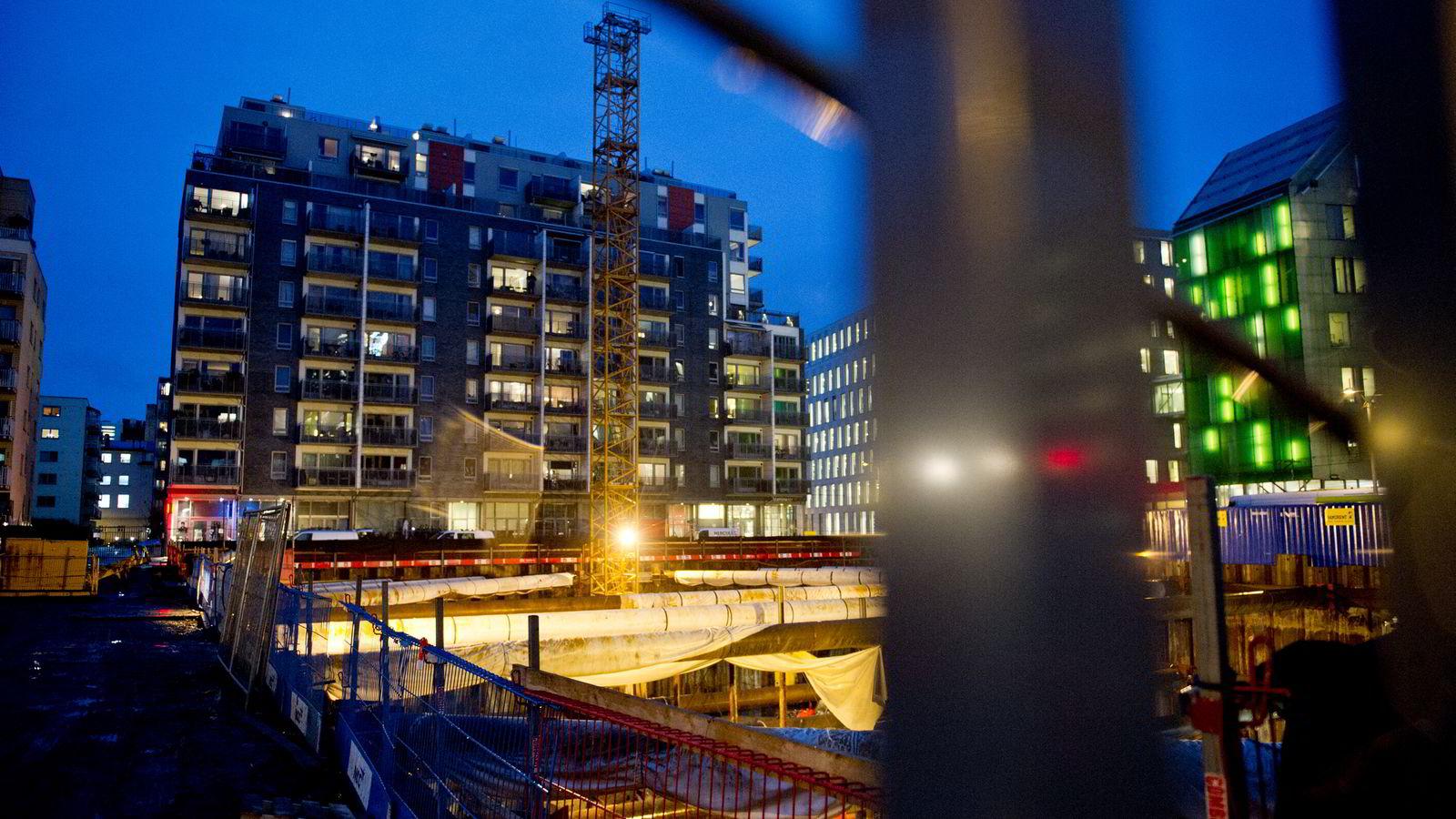Det bygges altfor få boliger i Oslo i forhold til behovet. Foto: Thomas Haugersveen