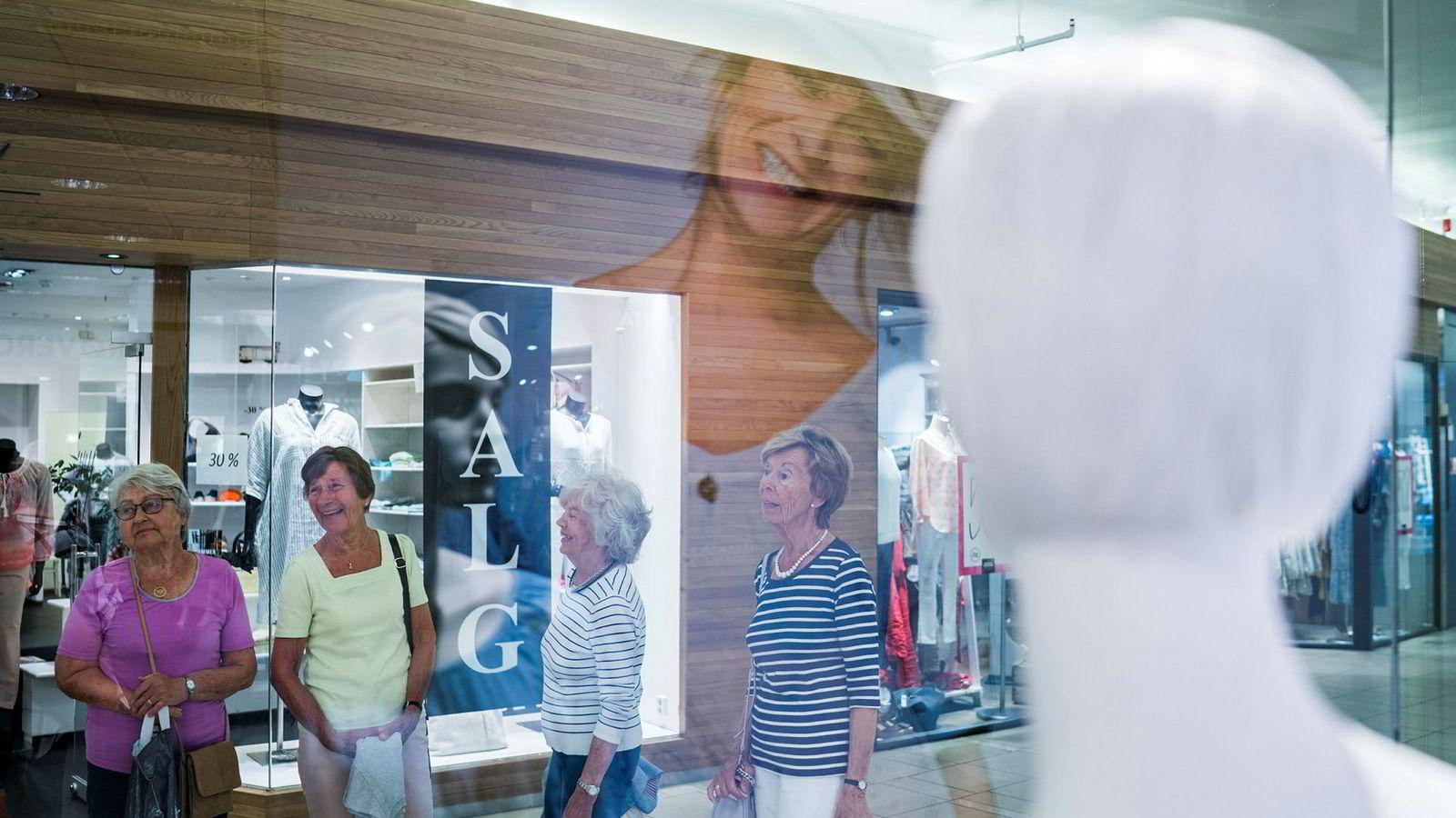 Kleskjeden PM (tidligere Personlig mote) har butikker over hele landet og har rettet seg inn mot en godt voksen målgruppe. Her fra butikken på Sandvika Storsenter.