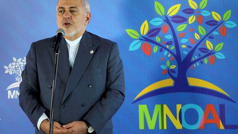 Irans utenriksminister Mohammad Javad Zarif sier landet ikke søker konfrontasjon.