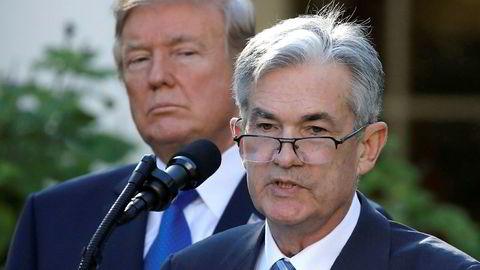 President Donald Trump går ikke av veien for å vise sin misnøye med sentralbanksjef Jerome Powell.