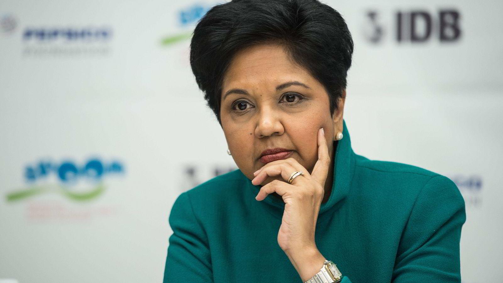 PepsiCo-sjef Indra Nooyi sier selskapet må bli sunnere for å vokse.               FOTO: