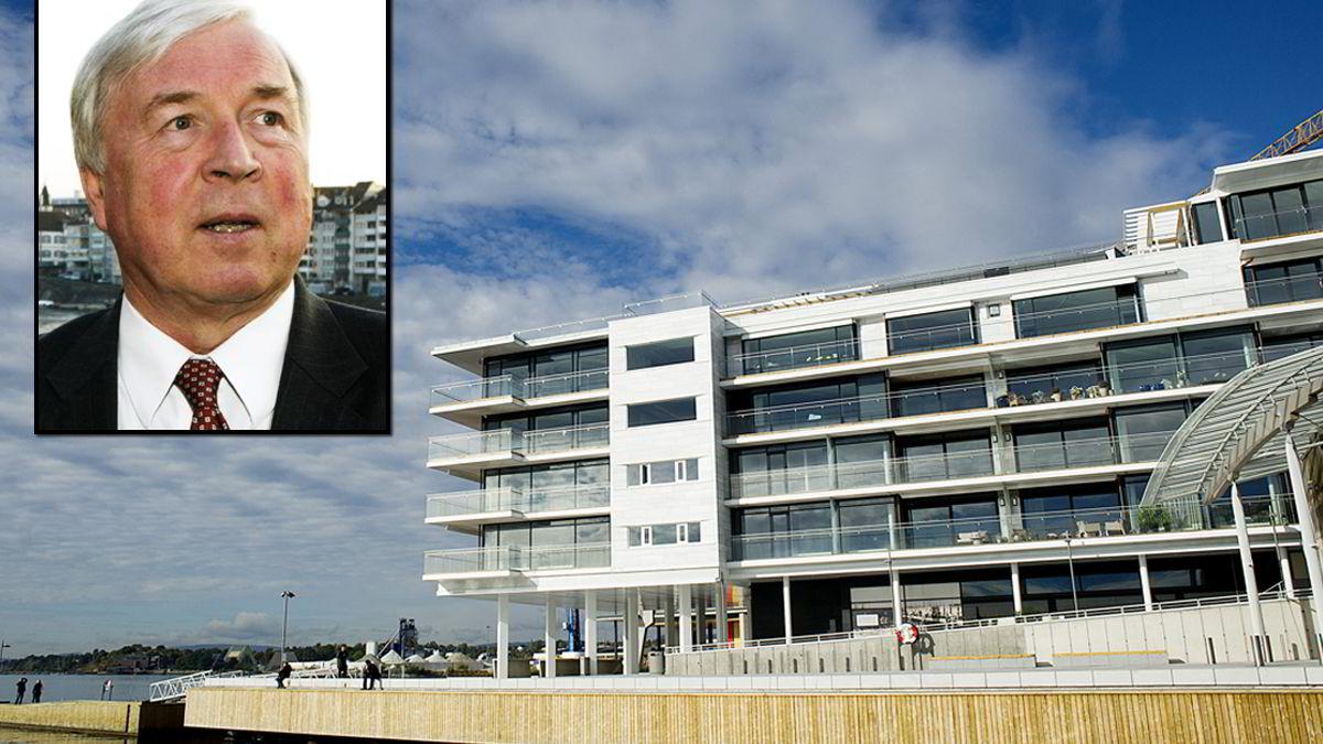 I dette bygget ytterst på Tjuvholmen har elvecruisereder Torstein Hagen (arkivfoto fra 2003) sikret seg 427 kvadratmeter.