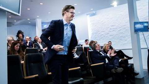 Magnus Reitan forvalter Reitangruppens «Oljefond». Her under resultatpresentasjonen på Lade Gaard.