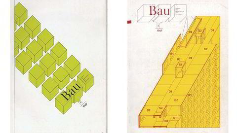Begge foto: Bau magazine, design: Hans Hollein                    og Walter Pichler (venstre) og Oswald Oberhuber (høyre)