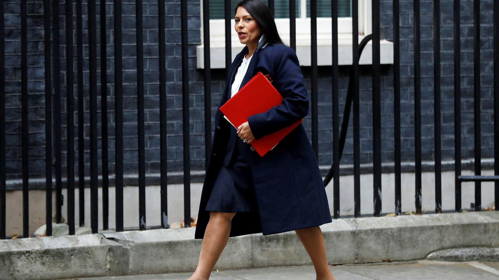 Det konservative parlamentsmedlemmet Priti Patel vil bruke sult som pressmiddel mot EU.