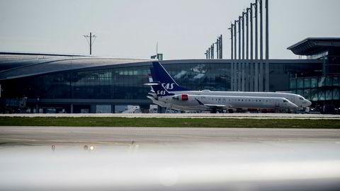 Parkerte SAS-fly på Oslo lufthavn Gardermoen sist uke.