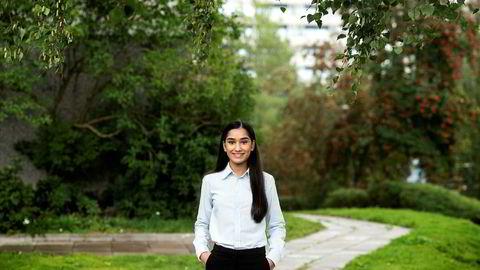 Aisha Ilyas er godt i gang med siviløkonomutdannelsen på BI.