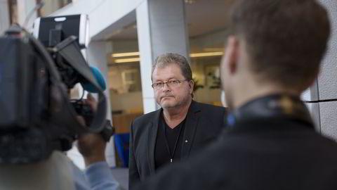 Atle Teigland fotografert forrige gang det ble varslet oppsigelser i Aker Solutions.