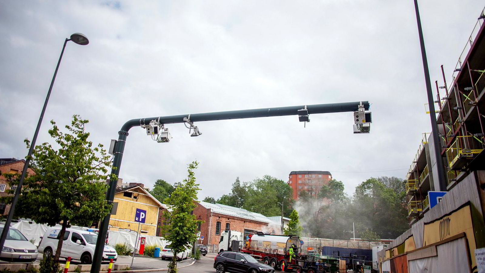 Elsket og hatet. Et eksempel på en bompenge-innkrever på Brattlikollen i Oslo.