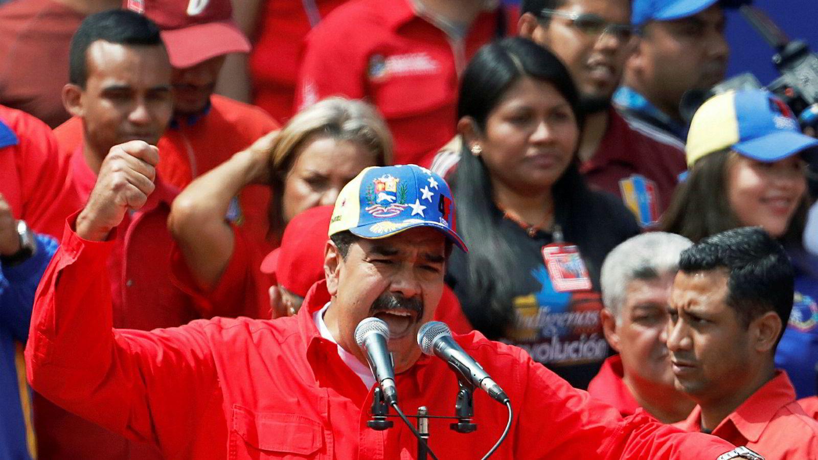 Venezuelas president Nicolás Maduro vil ikke høre på EUs ultimatum om å skrive ut nyvalg.