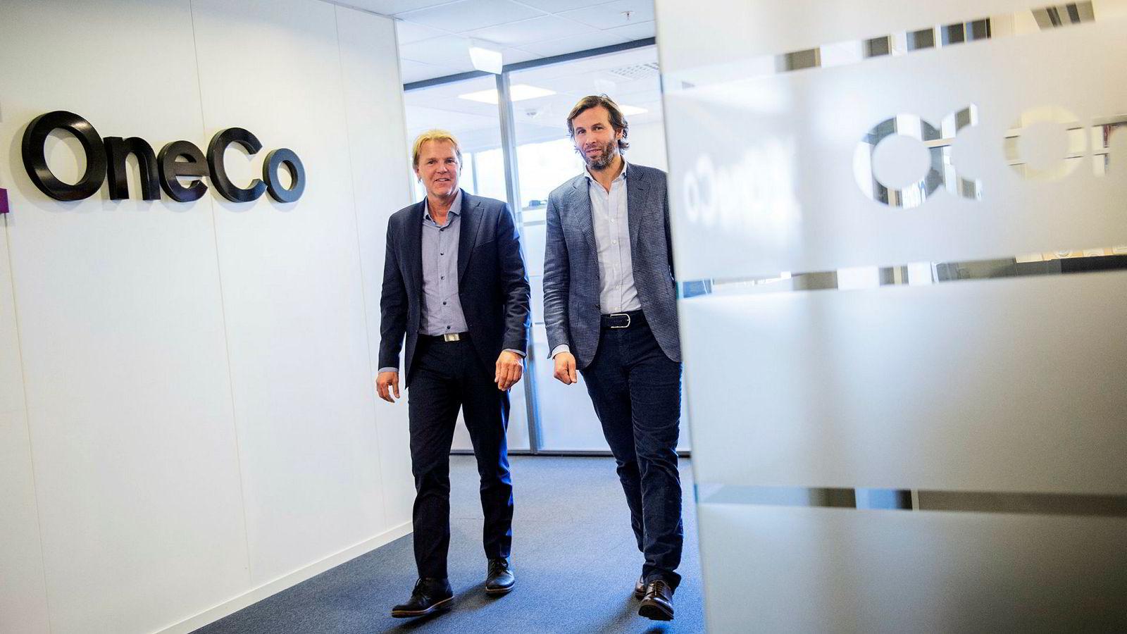 – Vekstmålet allerede er mer enn nådd med dette oppkjøpet, sier konsernsjef i OneCo, Marvin Jensen (til venstre). Her sammen med styreleder og eier i Aars as, Øivind Schage Førde.
