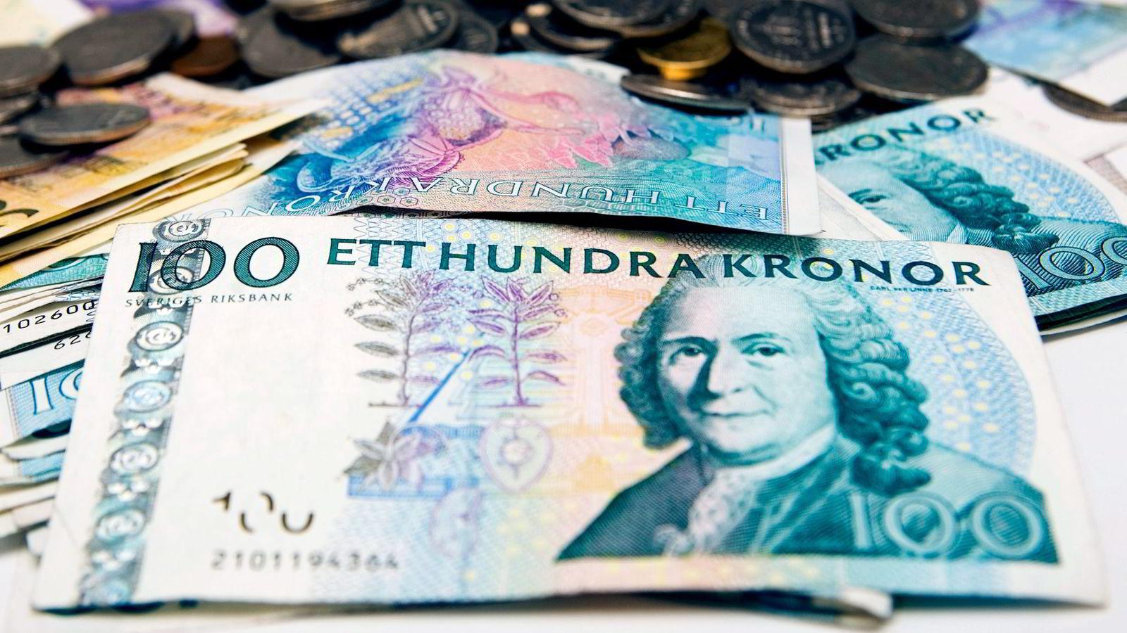 Sterk svenskekrone kan bidra til ytterligere kutt i en allerede rekordlav rente. Foto: Casper Hedberg/
