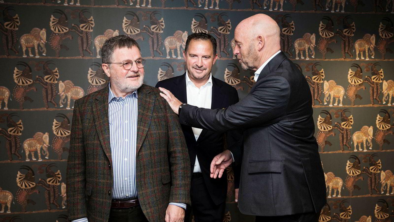 – Navnet er Maribel. Det betyr vakkert ekteskap, sier Asmund Haare (til venstre) som eier det nye hotellkonsernet sammen med Mads Jacobsen og Rune Firing.