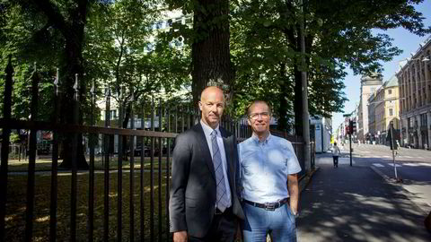 Administrerende direktør Ivar Brandvold i Dolphin Drilling (t.h) og finansdirektør Hjalmar Krogseth Moe må gå.
