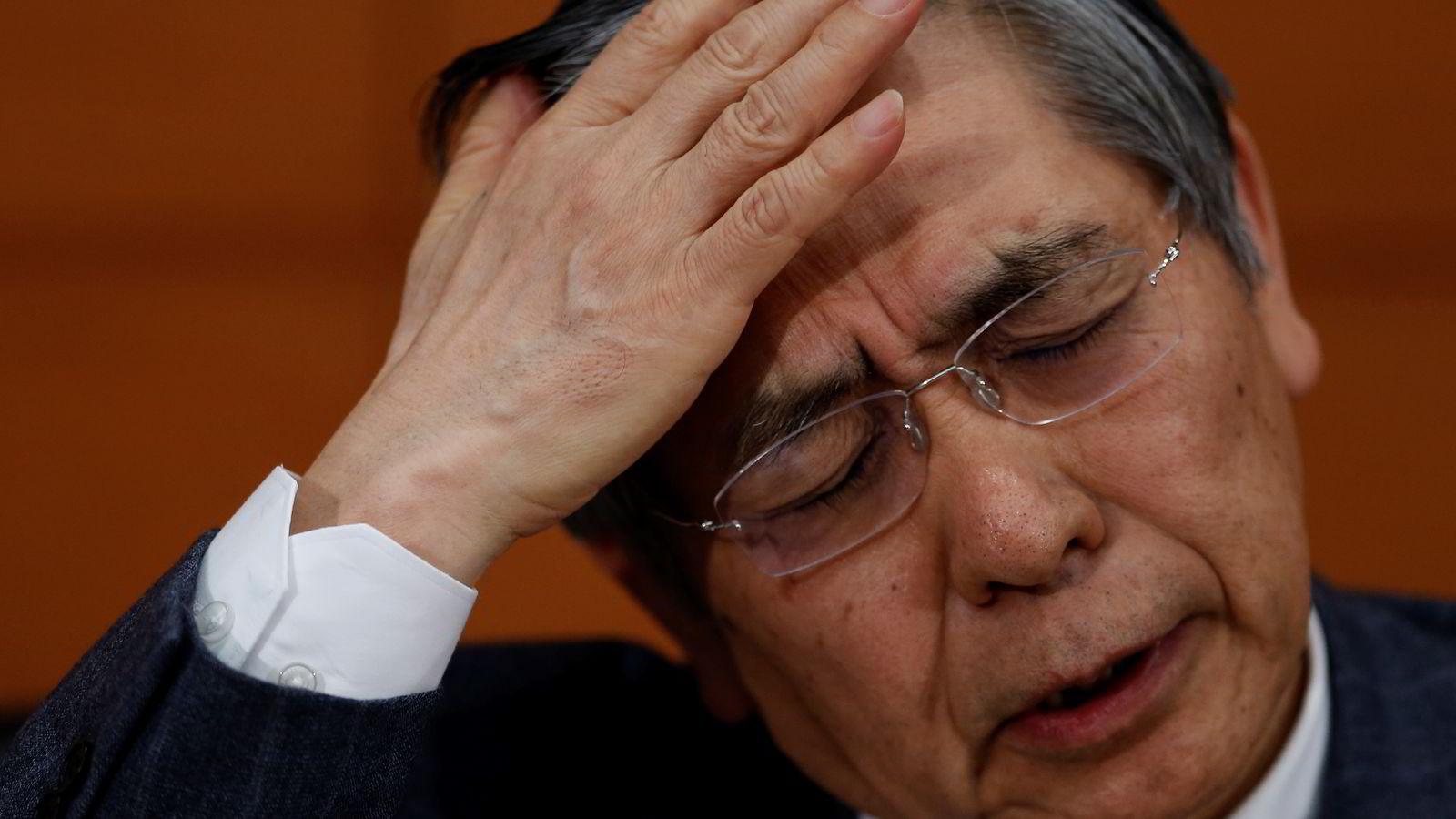 Sentralbanksjef Haruhiko Kuroda vil ikke nøle med å sette inn ny ammunisjon for å nå prisvekstmålet.