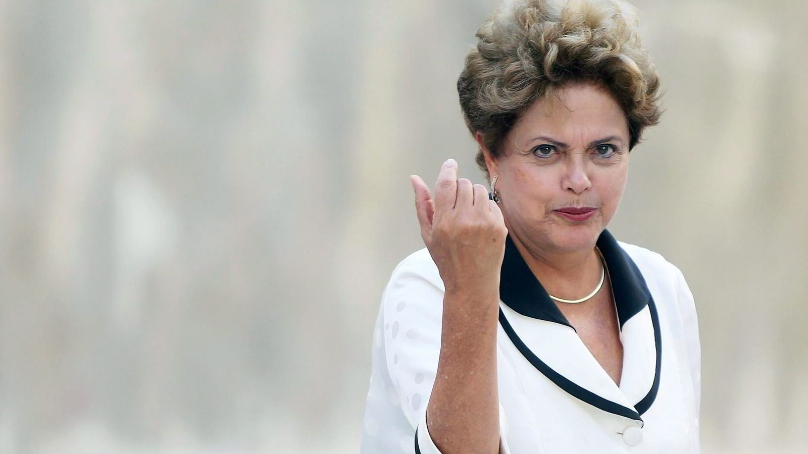 Brasils president Dilma Rousseff er i hardt vær på grunn av korrupsjonsskandalen i oljeselskapet Petrobras. Hun var styreleder i Petrobras i syv år.               Foto: Mario Tama/