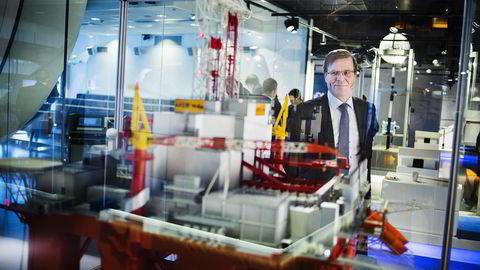 Per Harald Kongelf, som leder Aker Solutions norske virksomhet, begrunner lønnskuttene med at divisjonen må bli mer konkurransedyktig. Foto: Per Thrana.