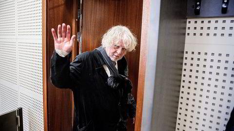 Nerdrum møtte selv i straffesaken i lagmannsretten i mai. Han hevder pengene han er dømt for å ha unndratt var sikkerhet for ødelagte malerier. Foto: Fredrik Bjerknes