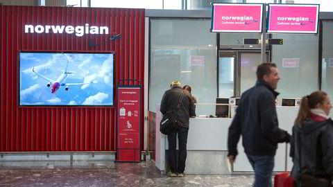 Episoden fant sted på Norwegians billettkontor på Gardermoen.