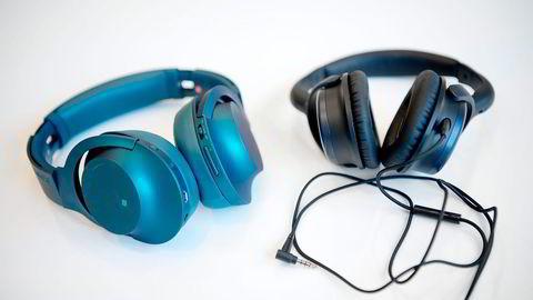 Trådløs drøm. Sony MDR-100ABN er én av de mest komplette hodetelefonene vi har testet.                   Creative Aurvana ANC er rimelige, men man får bedre utstyr i samme prisleie. Foto: Mikaela Berg