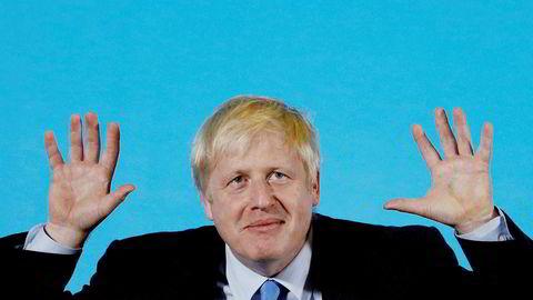 Boris Johnson, her under et arrangement i Colchester forrige helg.