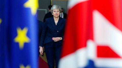 Theresa May har vært på hyppige Brussel-besøk det siste året. Foreløpig er brexit-veien videre uklar.