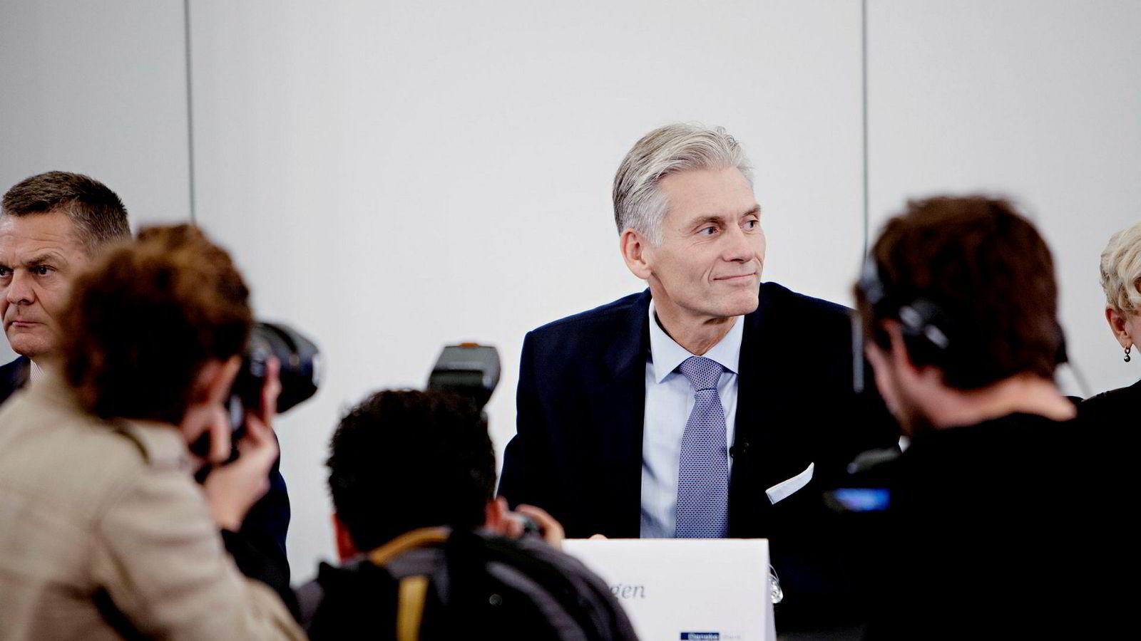 Thomas Borgen på pressekonferansen i København onsdag.
